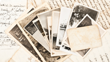 A collection of family history letters and photographs.